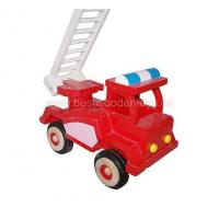 China Wooden Vehicles Wooden fire truck on sale