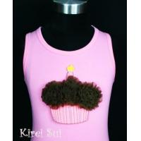 China Light Pink Tank Top with Cupcake V6 wholesale