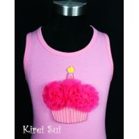 China Light Pink Tank Top with Cupcake V4 wholesale