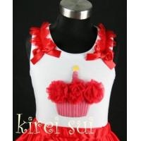 China White Tank Top with Cupcake CR2 wholesale