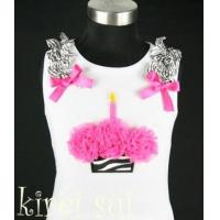 China White Tank Top with Cupcake CB5 wholesale