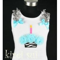 China White Tank Top with Cupcake CB8A wholesale