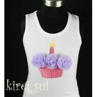 White Tank Top with Cupcake CA4A