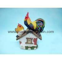 China polyresin rooster crafts/garden rooster decor/rooster statue on sale