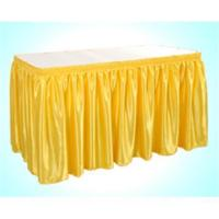 China Hotel table skirt wholesale