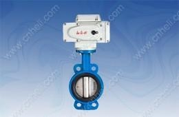 China 【wafer cast iron electric butterfly valve(Direct Installation)】
