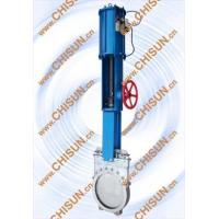 China pneumatic with hand wheel kinfe gate valve wholesale