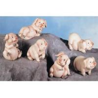 China Polyresin Animal Figurines Polyresin Pig Figurines Set wholesale