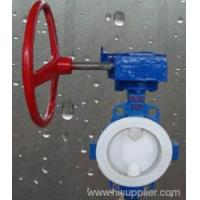 China Valves Wafer type PTFE-Lined Butterfly Valve Zhejiang,China (Mainland) wholesale