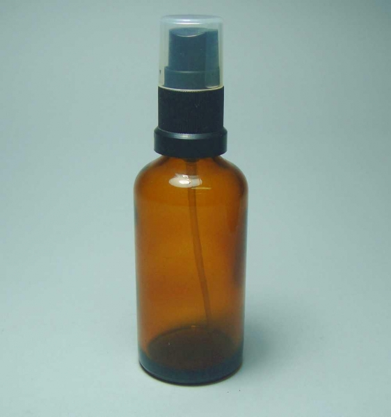 Quality Cosmetic bottle 60ml glass amber bottle with sprayer for sale