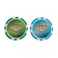 China 13.5g poker chips Laser Vegas Style Clay Composite Poker Chips wholesale