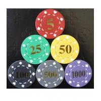 China 11.5g poker chips Suited Poker Chips with Hot Stamping wholesale