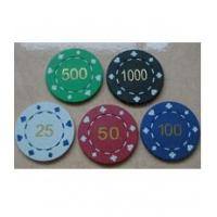 China 11.5g poker chips Hot Stamped Suit Poker Chips wholesale