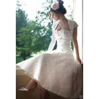 China 1950s vintage white lace tea length wedding dress on sale