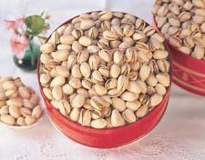 Quality Colossal Pistachios - Gift TinsDry Roasted and Salted for sale