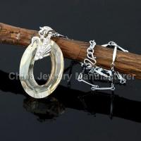 China crystal pendent Copper chain Necklaces for women wholesale