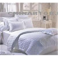 China 100% cotton stripe Hotel bed sheet sets wholesale