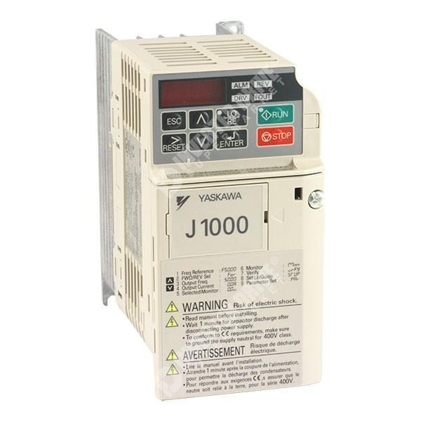 China Yaskawa J1000 0.4kW/0.75kW 230V 1ph to 3ph AC Inverter Drive, Unfiltered
