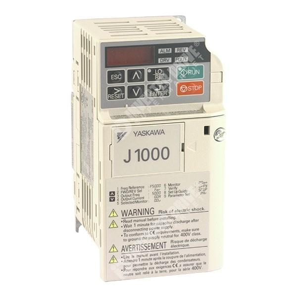 China Yaskawa J1000 0.2kW/0.4kW 230V 1ph to 3ph AC Inverter Drive, Unfiltered