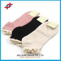 China Summer Organic Lace Top Hold Ups Girl Bamboo Healthy Socks wholesale