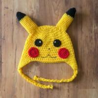 Pikachu Crochet Hat, Pickachu Beanie, Milk Cotton Pokemon Hat