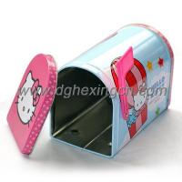 China Metal novelty mailbox shaped tin boxes wholesale