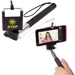 selfie stick with push button larger imprint of adcomarketing. Black Bedroom Furniture Sets. Home Design Ideas