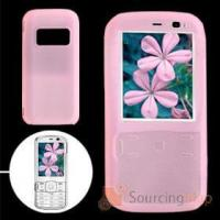 China Pink Soft Silicone Case Cover Protector for Nokia N79 Silicone Skins wholesale
