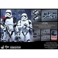 Hot Toys Star Wars The Force Awakens Stormtrooper Officer/Stormtrooper 2 Pack