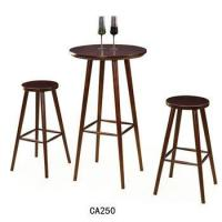 China Unique design bar furniture Wooden bar stool Round chair Bar table for sale CA250 wholesale