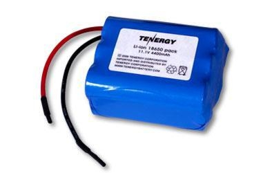 At Tenergy Li Ion 18650 11 1v 4400mah Rechargeable