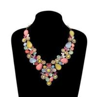 China Candy color acrylic statement necklace on sale