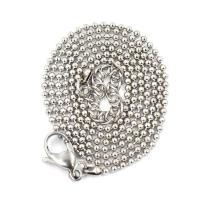 China Necklace Series Stainless Steel Ball Chain Necklace Silver on sale