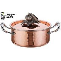 """China 18CM Noble Hand Hammered <strong style=""""color:#b82220"""">Copper</strong> <strong style=""""color:#b82220"""">Pots</strong> and Pans For Cooking <strong style=""""color:#b82220"""">Pot</strong> wholesale"""