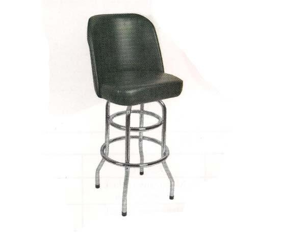 Commercial Swivel Black Bucket Seat Double Ring Bar Stool