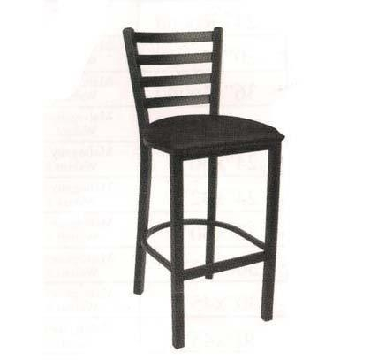 Metal Ladder Back Bar Stool With Black Cushion Seat 700 Bs