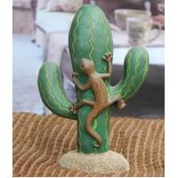 China Decor Cactus Lizard Statues Polyresin Figurines Resin Crafts Animal Decorations Wholesale on sale