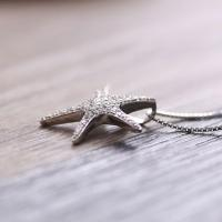 China 925 sterling silver starfish pendant necklace and link chain China jewelry manufacturer 2015110905 on sale