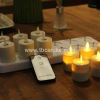 China flameless flickering luminara rechargeable led tea light candles with remote control wholesale