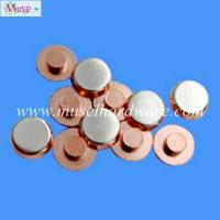 China Precision stamping parts high anti-welding silver alloy contacts for household appliance wholesale