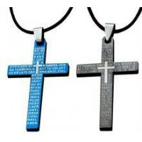 Buy cheap Stainless Steel 316L Cross Mens Pendant Necklace, from wholesalers