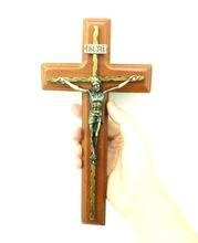 Quality Wall Hanging Cross Crucifix Made of Wood for sale