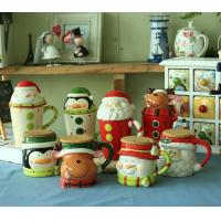 China novelty Christmas gifts mug,ceramic mug for Christmas day,500ml ceramic cup with lid---MM005 wholesale