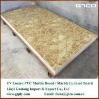 UV coated PVC marble texture sheet for wall panel