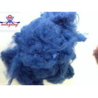 China 1.5D blue recycled polyester staple fiber wholesale