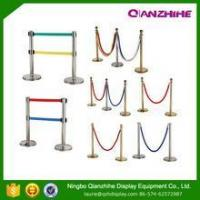 China rope queue barrier pole stand pole barriers wholesale
