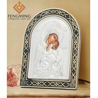 China Virgin Mary and Child Jesus Silver Greek Icon on sale