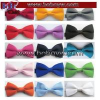 China Tie & Bowtie Polyester Tie Adjustable Bow Tie Solid Colors Neckwear wholesale