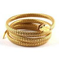 China stainless steel simulation gold snake bangle wholesale