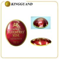 Guangdong Custom oval red clear label for bottle